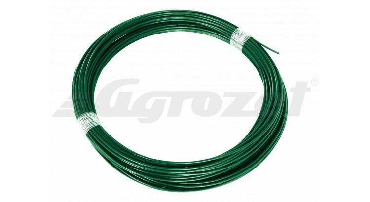 Drát napínací plast 3,4 zelený 78m