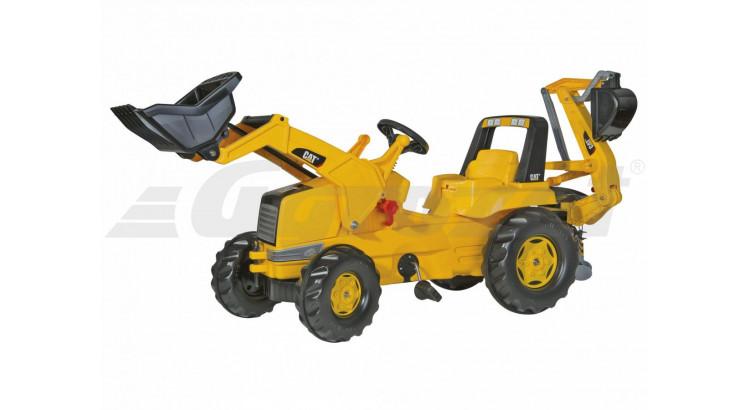 Rolly Toys Dětský šlapací traktor CAT s nakladačem a rypadlem