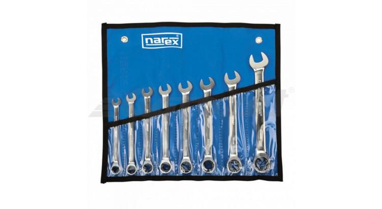 Narex 443000594 Sada klíčů 8dílná ráčnových vinyl DIN3113