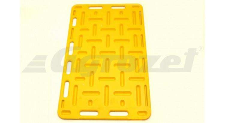 Deska naháněcí pro prasata 120x76 cm žlutá