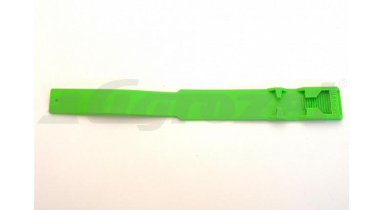 Páska na nohu plast zelená