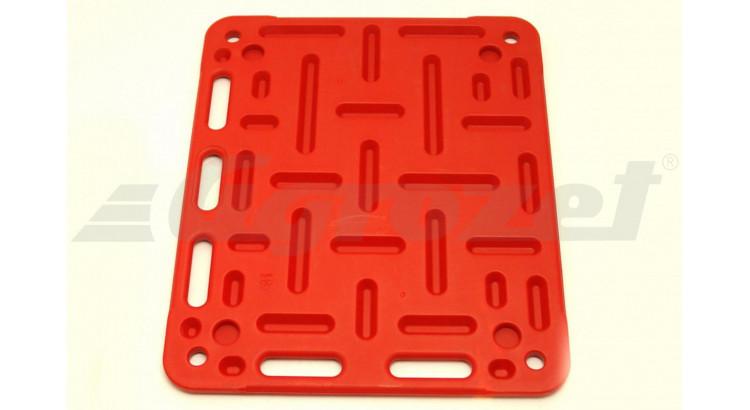 Deska naháněcí pro prasata 94x79 cm červená