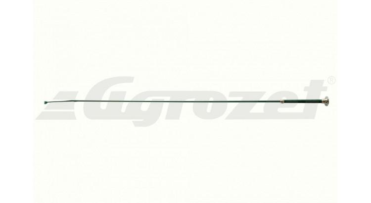 Bič pro dresuru 100 cm sklolaminát grif kůže zelený