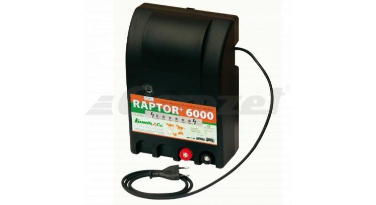 RAPTOR+ 6000 Elektrický ohradník - optická kontrola napětí určen pro skot a ovce