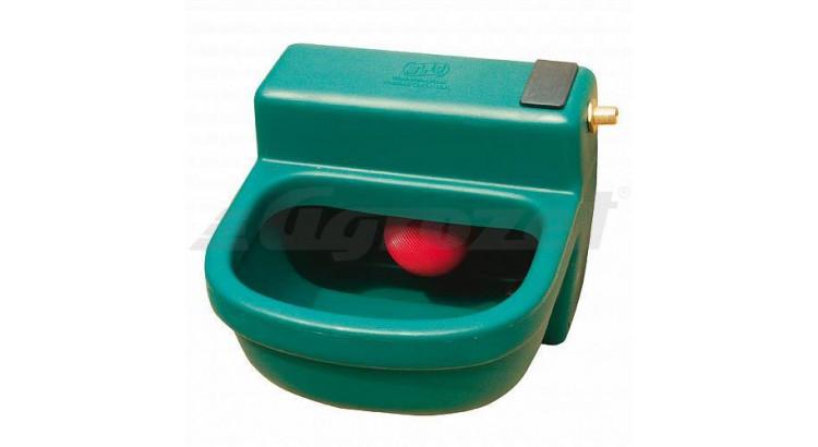 Žlab napáj.plast.s plovák.ventilem 16L zelený