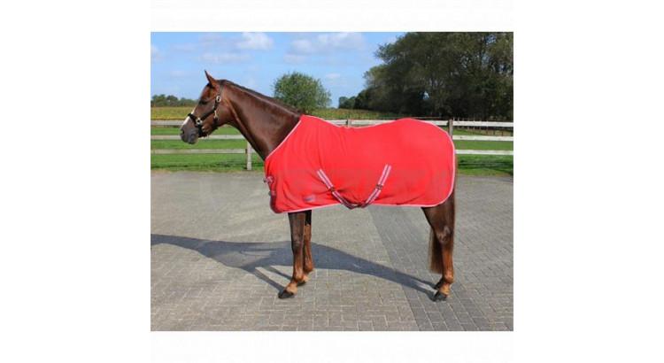 Odpocovací deka QHP červená  vel. 125/175 cm