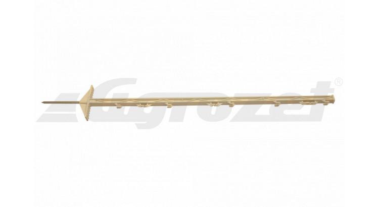 Tyč ohradníková umělohmotná - 2 nášlapky 105 cm