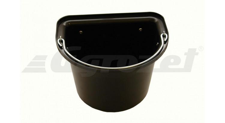 Vědro stájové s kovovým držadlem 12 l černé