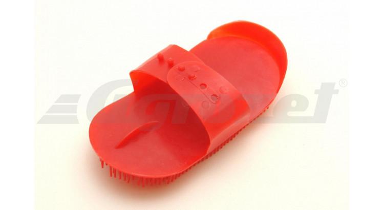 Hřebelec s jehlovými štětinami plastový červený