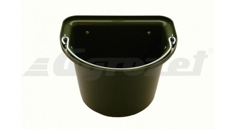 Vědro stájové s kovovým držadlem 12 l zelené