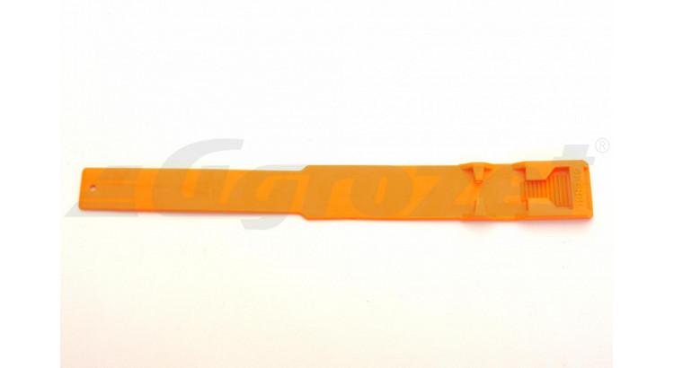 Páska na nohu plast oranžová