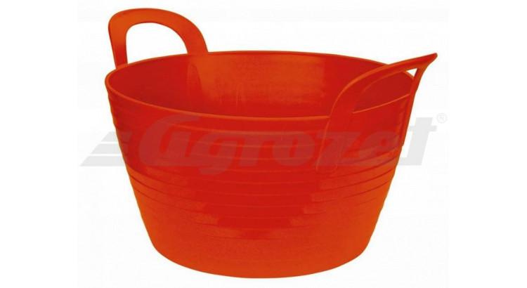 FlexBag 323532 Žlab z pružného plastu 12 l/výška 31 cm/40 cm červený