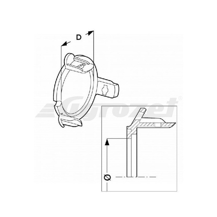 Kroužek ložiska O54,5 vnitřní