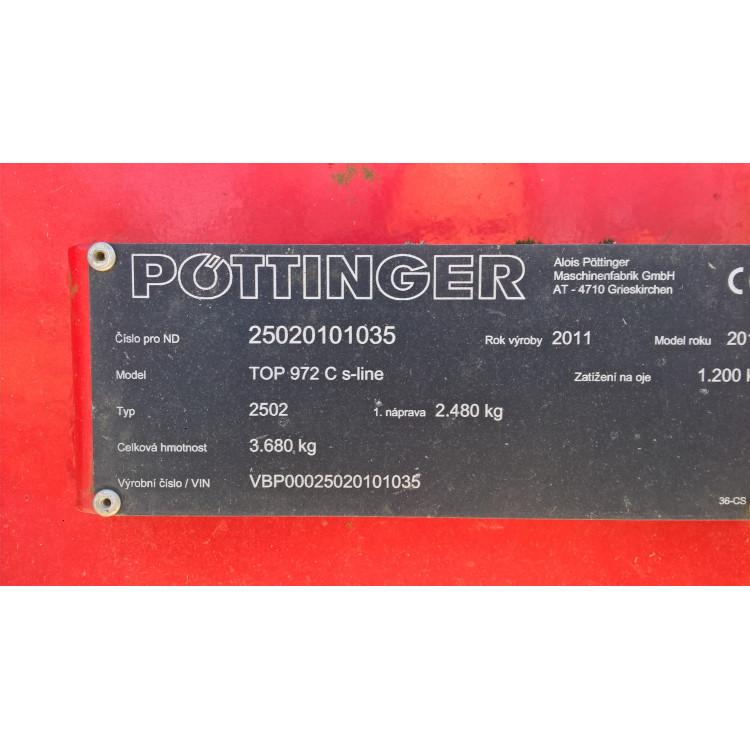 Shrnovač Pöttinger TOP 972 C S-Line