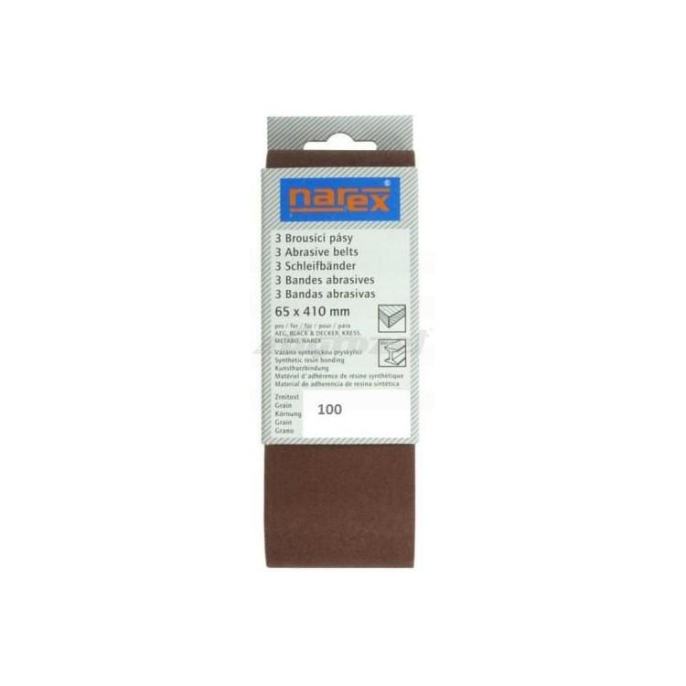 NAREX 00618214 Brusný pás 3ks 65x410mm P100