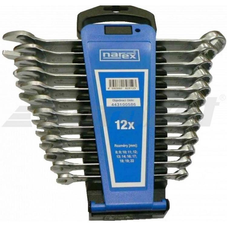 NAREX 443100586 Sada klíčů 12dílná očkoplochých plast. držák