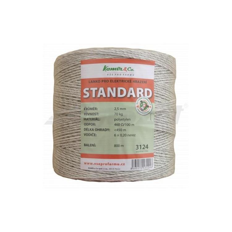 Polyetylenové lanko pro elektrické ohradníky 2,5 mm STANDARD