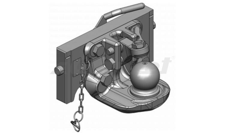 Závěs posuvný K80 - 333/38/25, H=160mm - Orlandi
