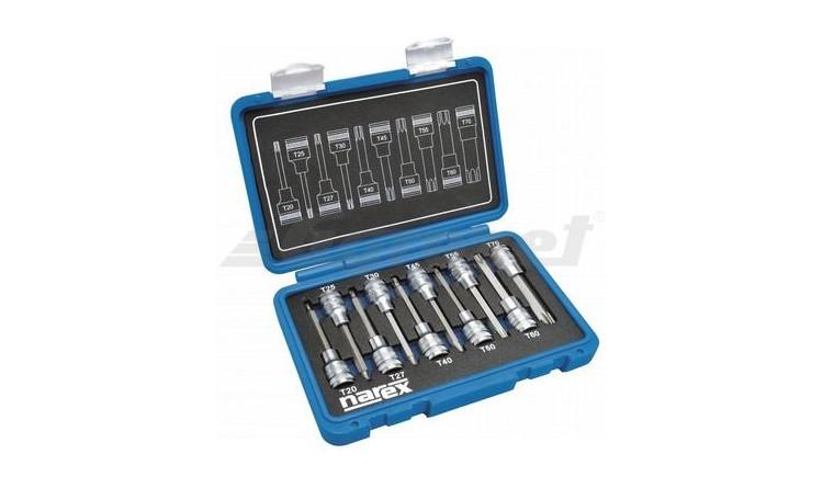 """NAREX 443000962 Sada hlavic 1/2"""" zástrčných TORX TX 20-70 L100mm 10dílná"""