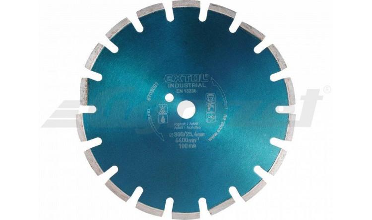 EXTOL Kotouč diamantový řezný segmentový na ASFALT, suché řezání, 300x25,4mm