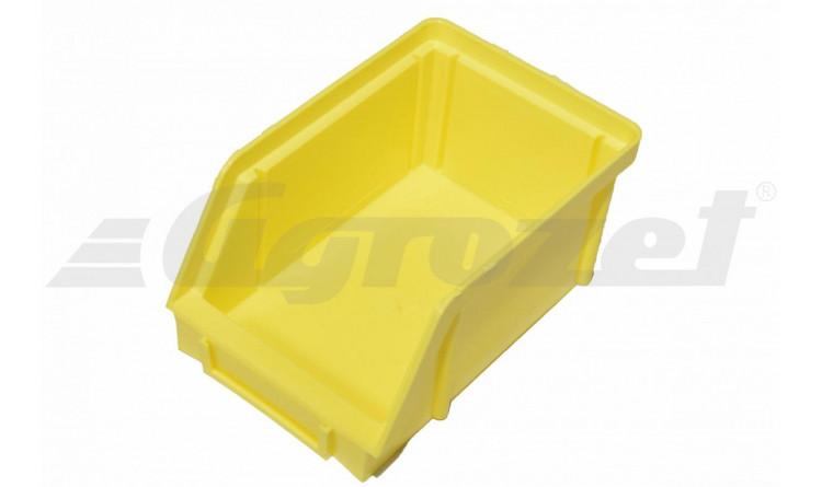 Zásobník EKOBOX 14,5x7x10 cm žlutý